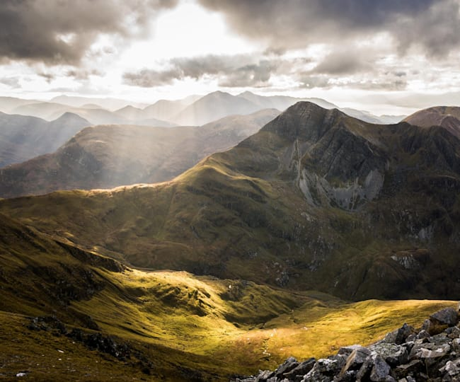The view from from Sgurr a'Mhaim