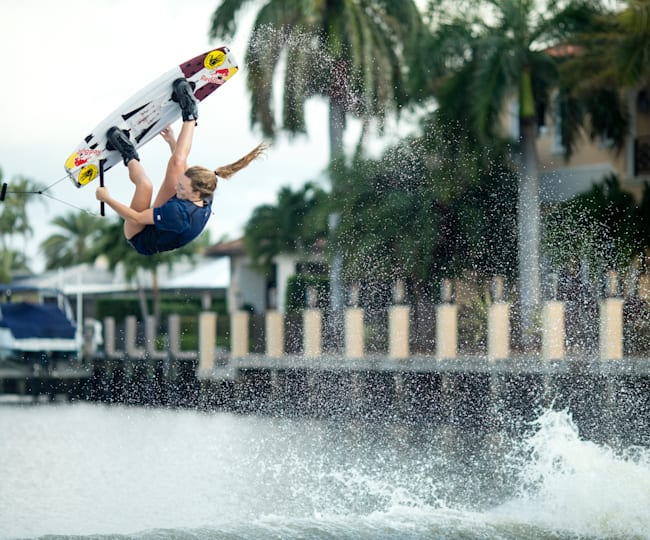 Meagan Ethell gets a ride in at Ft Lauderdale, Florida