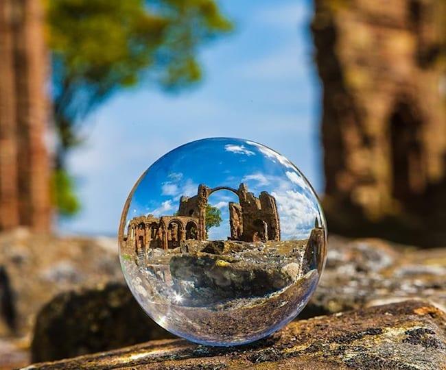 Le château de Lindisfarne Priory