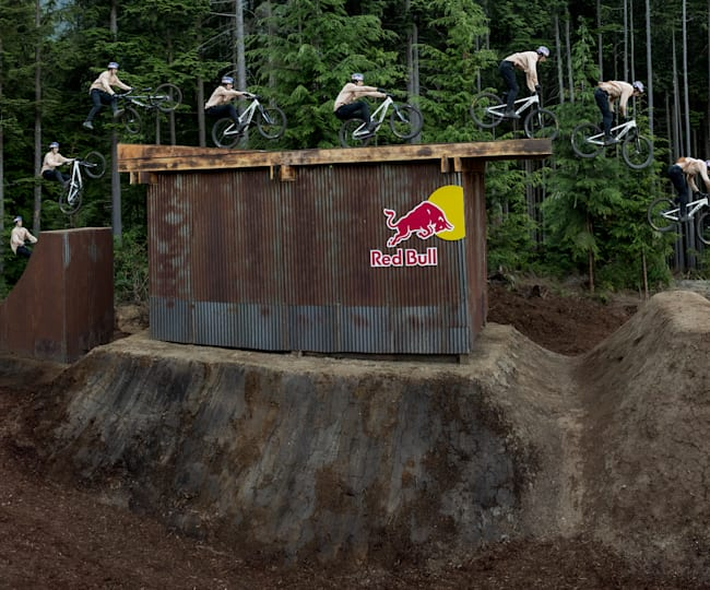 Brandon Semenuk during the filming of Realm on his new slopestyle bike