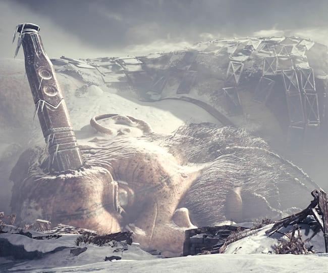 Thamur marca el paisaje premonitorio de Midgard en God of War