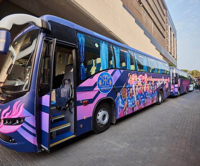 Rajasthan Royals 2021 bus