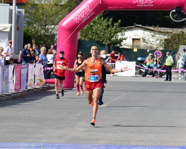 Дарио Ивановски - финиш на Скопски Маратон 2020