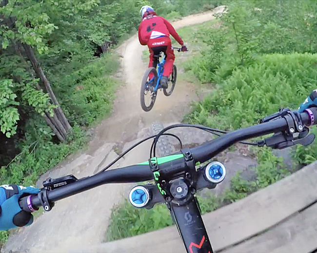 Chasing Trail: Aaron Chase rides Hellion brakeless