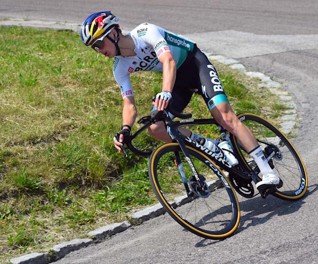 Radprofi Toni Palzer mit BORA-hansgrohe unterwegs bei der Tour of the Alps.