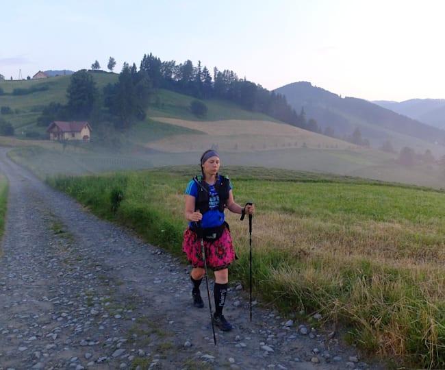 Joanna Mostowska na Głównym Szlaku Beskidzkim