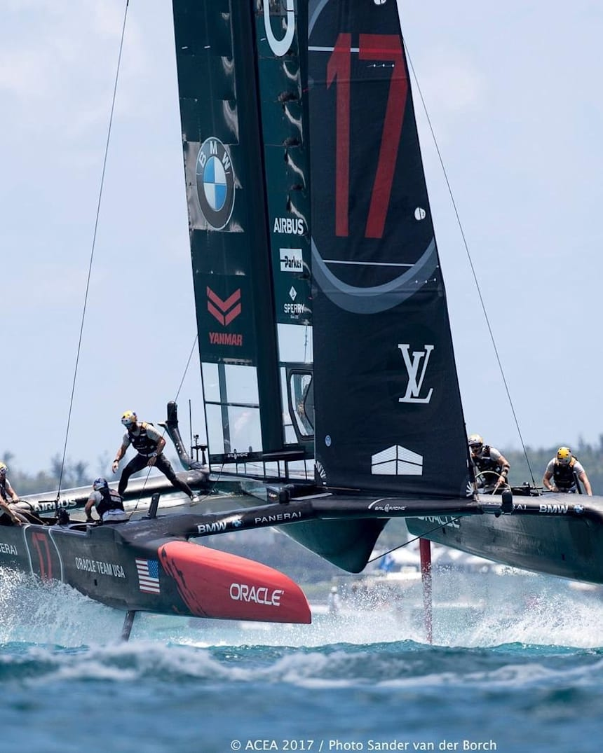 Oracle Team USA 2013 in Action POSTER