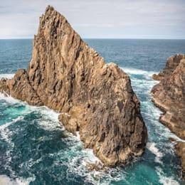 POSTER Ireland Surf Pounding Rocky Coast