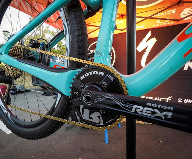 Rotor cranks on an XC bike