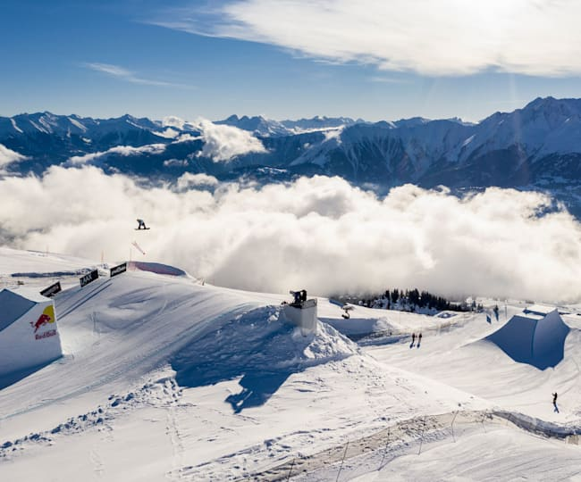 The 2020 Laax Open slopestyle course