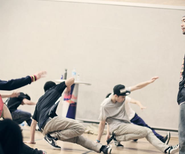 Ronnie no Workshop de Performance do Red Bull BC One