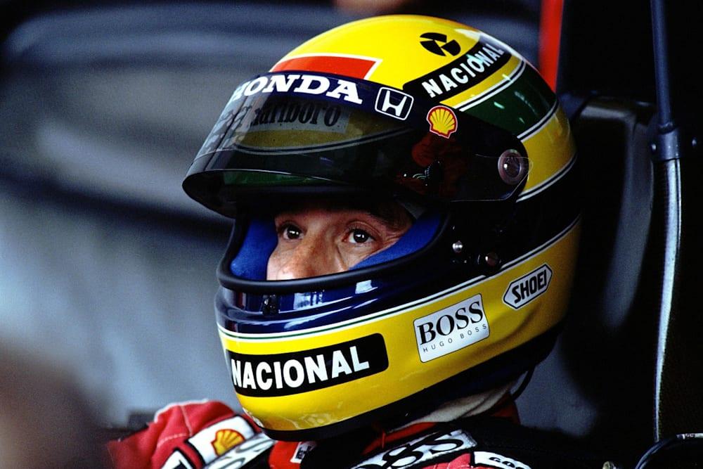 Le pilote de Formule 1 Ayrton Senna de l'écurie McLaren ai Grand Prix de F1 d'Australie 1991.