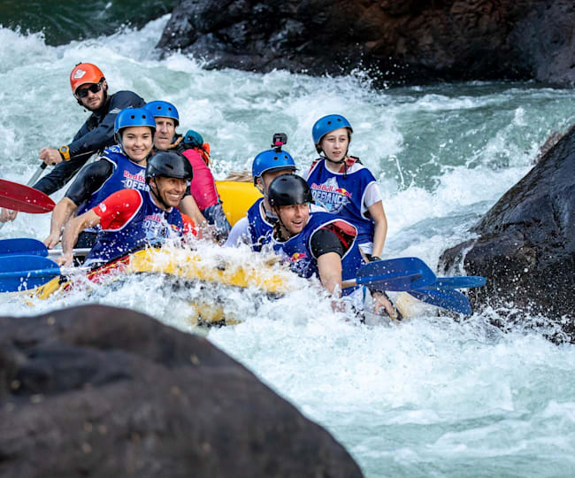 Heading into the rapids