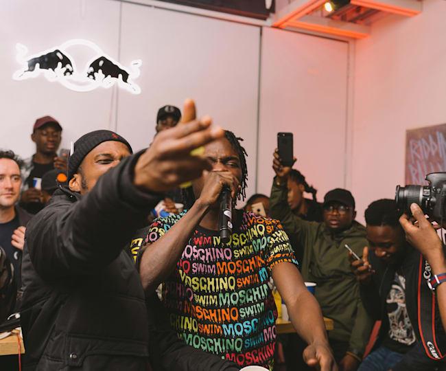 Naira Marley rocking the Moschino