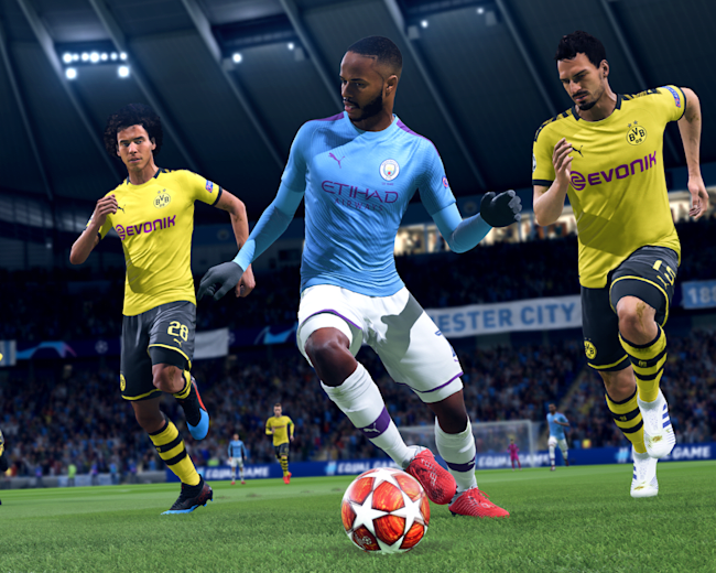 Raheem Sterling of Manchester City in FIFA 20