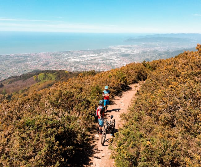 West Coast Trails, la MTB area alle spalle di Massa Carrara