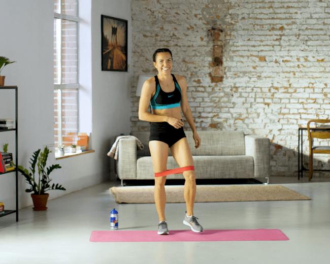 Asia Jóźwik - trening z gumą oporową