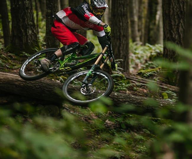 Bas van Steenbergen riding in British Columbia