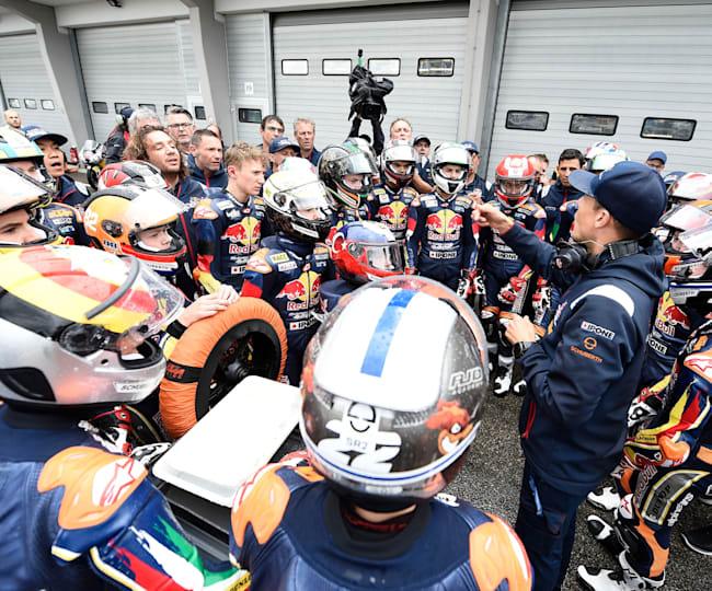Dani Ribalta and Red Bull MotoGP Rookies