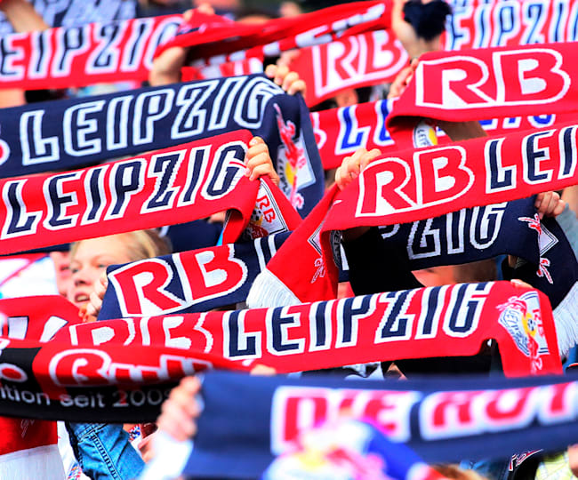 RB Leipzig fans during their 2. DFL match against Karlsruher SC, 2014.
