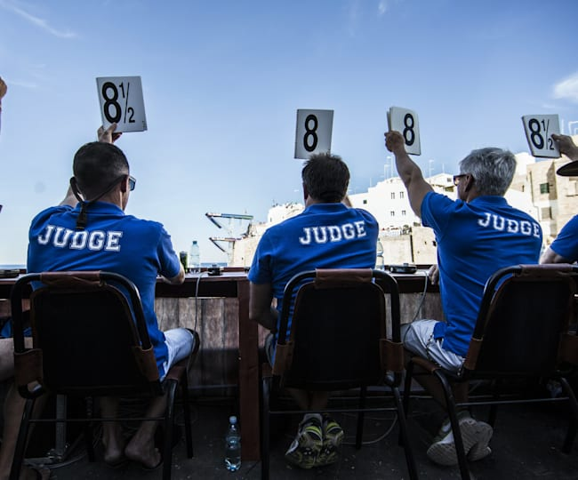 Red Bull Cliff Diving judges in Polignano a Mare