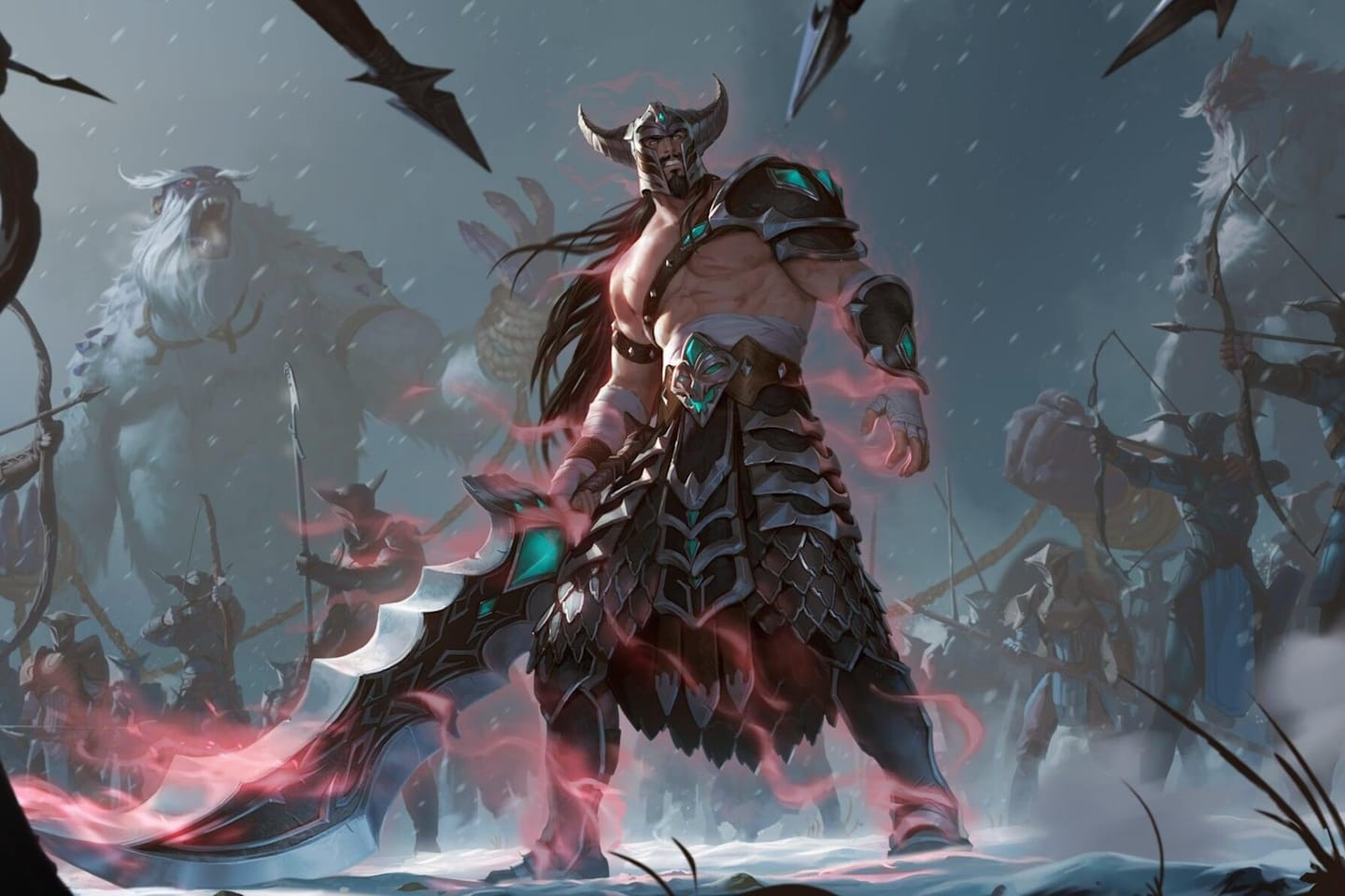 League of Legends character Tryndamere in Legends of Runeterra