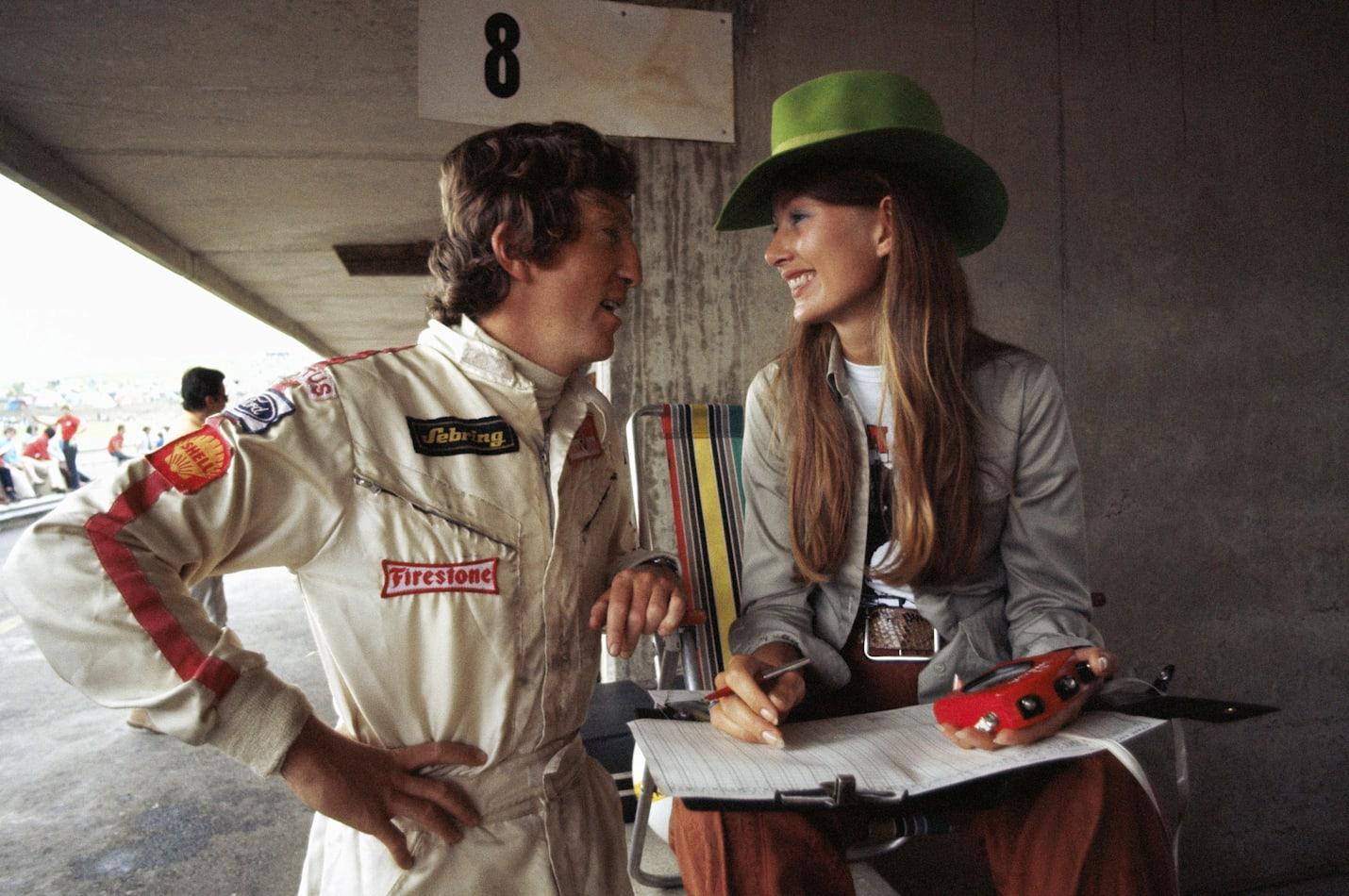 Jochen et Nina Rindt au Grand Prix d'Autriche de Formule 1 l'Österreichring à Spielberg.