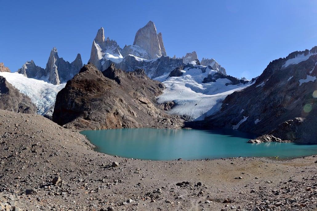 Le lagon Los Tres à El Chalten
