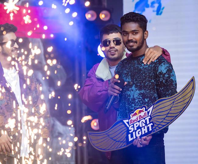 A-Gan with Seedhe Maut after winning Red Bull Spotlight