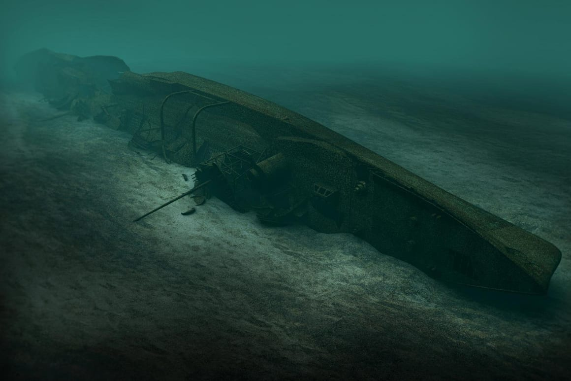 3D animation του ναυαγίου του S.M.S. Coln