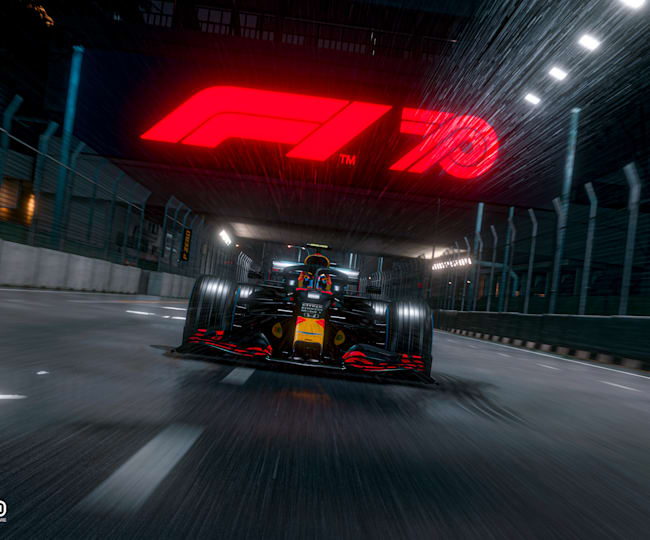 On Track In Singapore On F1 2020