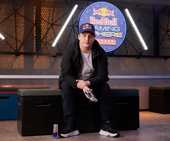 Jukeyz, sitting at the Red Bull Gaming Sphere