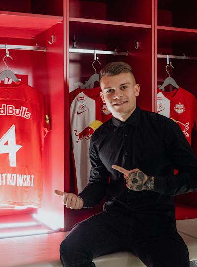 Kamil Piątkowski po podpisaniu kontraktu z Red Bullem Salzburg