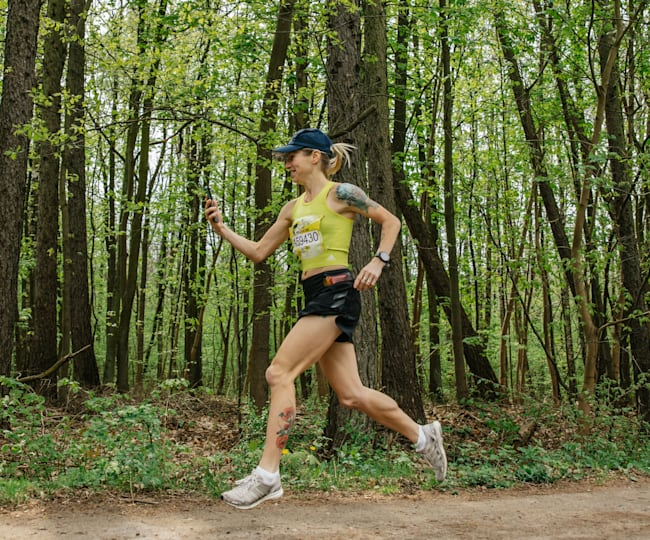 Dominika Stelmach podczas Wings for Life World Run 2020