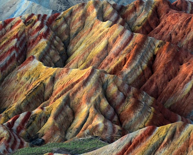 Mountain stripes in China