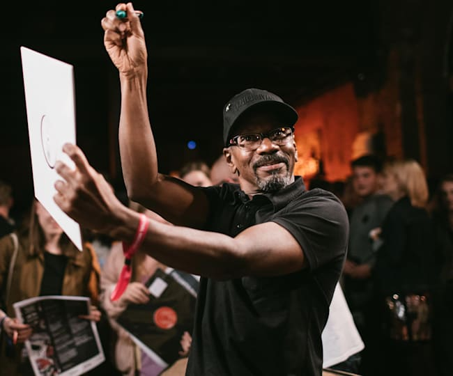 Larry Heard after the lecture at the Red Bull Music in Moscow, Russia 2018.