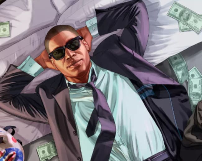 Grand Theft Auto V key art