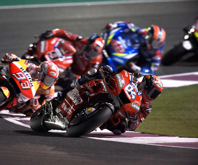 Dovizioso edged Marquez in Qatar for the second year running