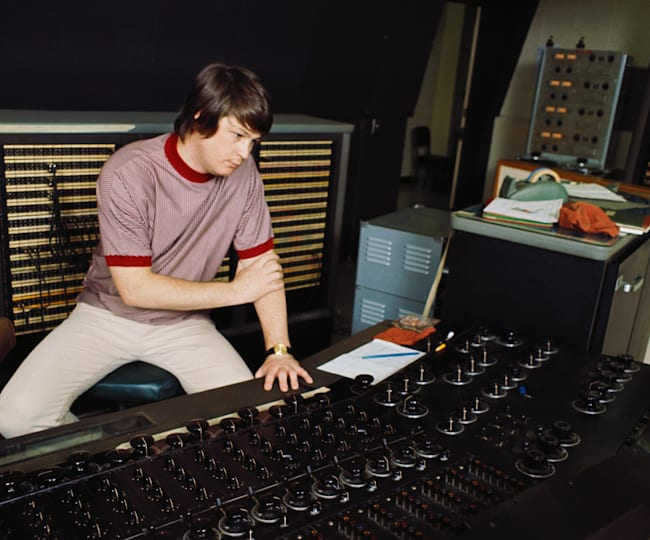 Brian Wilson working on The Beach Boys' masterpiece, Pet Sounds
