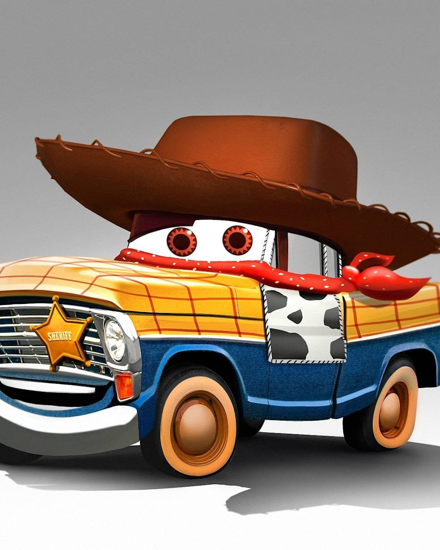 Pixar Characters Reimagined As Cars