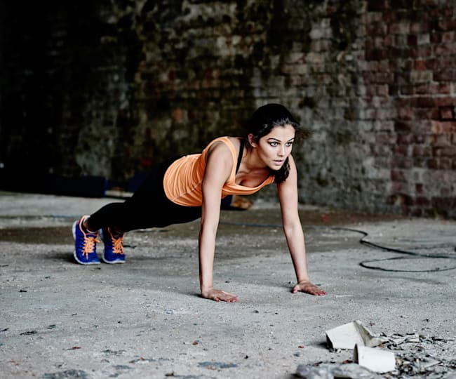 Press-ups can help runners improve their arm drive