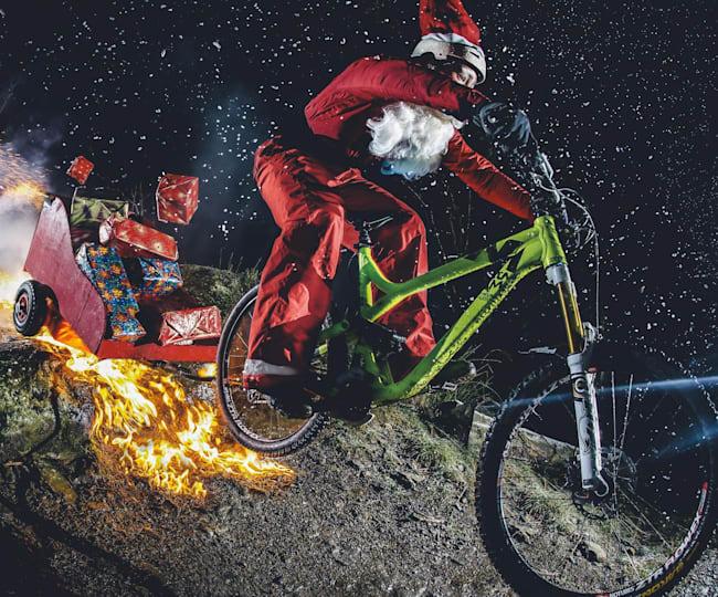 Santa Claus and his special MTB sleigh