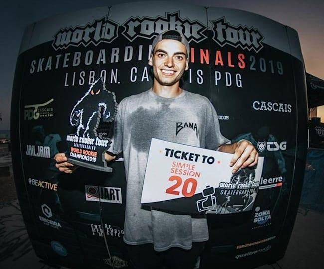 Guilherme Lima é o primeiro campeão de skate da World Rookie Tour