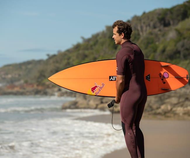 Julian Wilson checking the beach