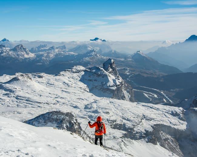 Descend the Piz de Puez in the Dolomites