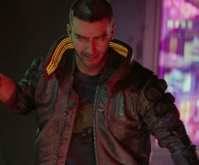 V - męski bohater gry Cyberpunk 2077 w wersji podstawowej