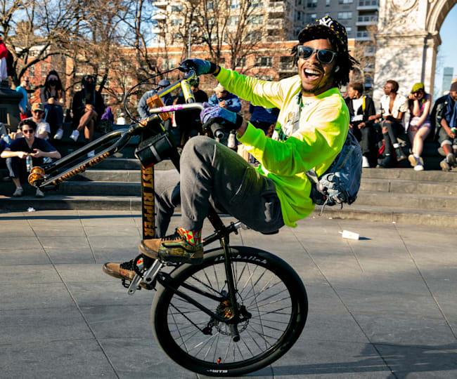 Jae Milez embodies the spirit of NYC's Bike Life culture.