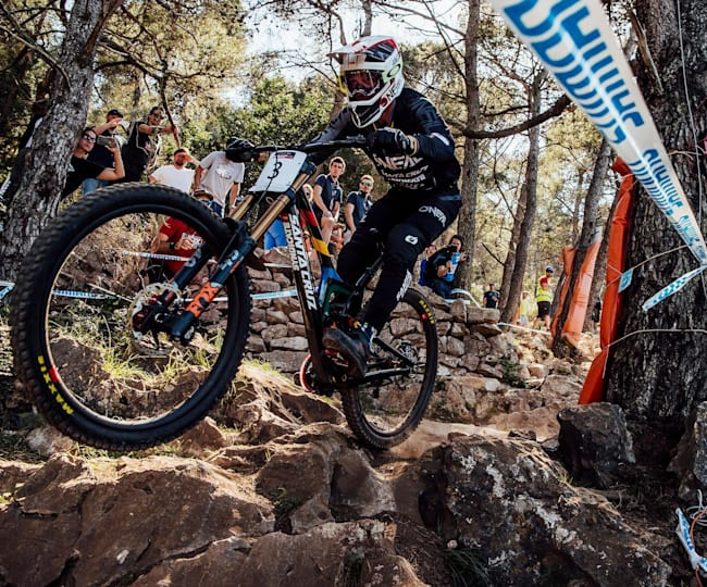Greg Minnaar in UCI Mountain Bike World Cup action in Lošinj, Croatia