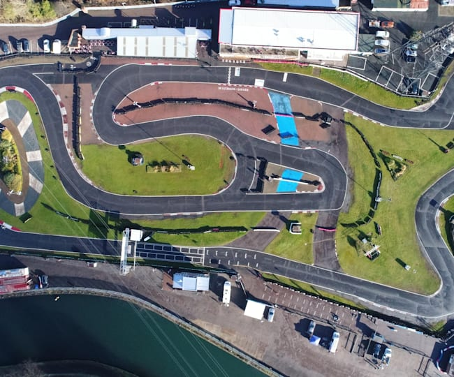 A bird's-eye view of the Rye House track