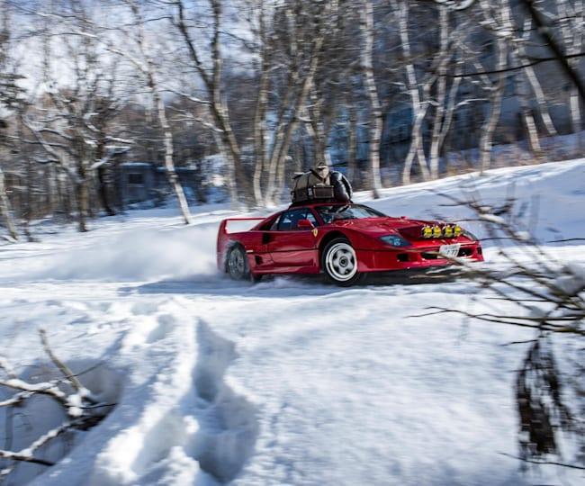 Snow Camp feat. Ferrari F40